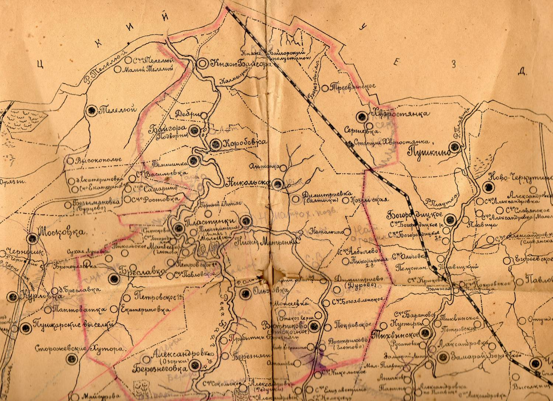 Сайт о князьях вяземских - карта.